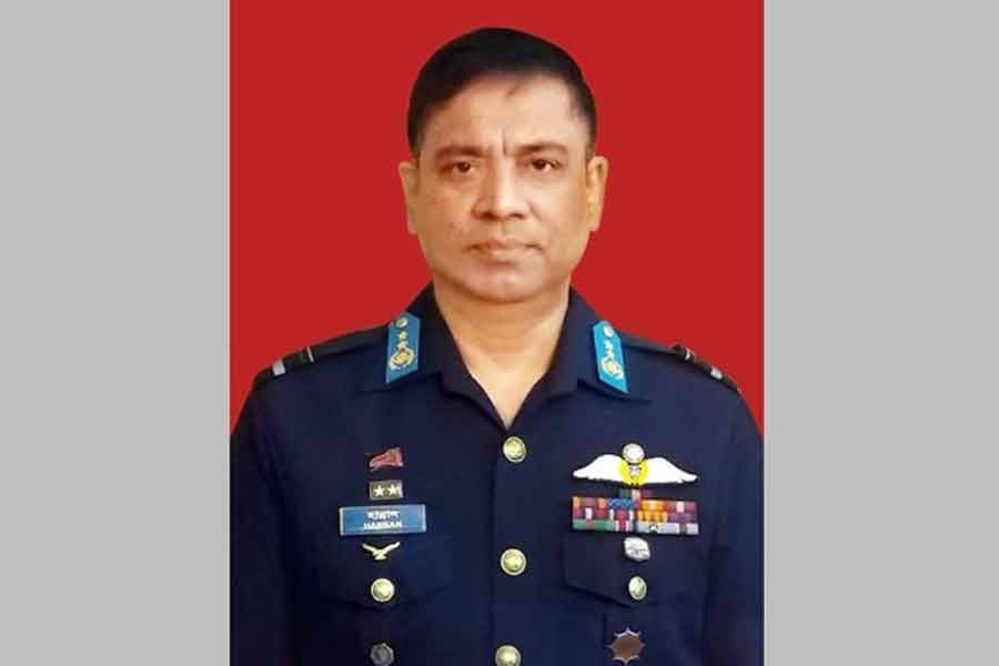 Air chief adorned with new Air Marshal rank badge