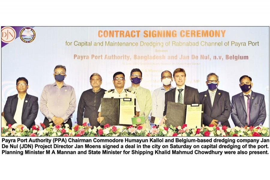 Deal on Payra seaport channel dredging inked