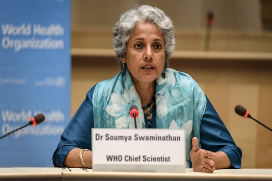 World Health Organisation (WHO) Chief Scientist Soumya Swaminathan attends a press conference organised by the Geneva Association of United Nations Correspondents (ACANU) amid the COVID-19 outbreak, caused by the novel coronavirus, at the WHO headquarters in Geneva Switzerland July 3, 2020. REUTERS