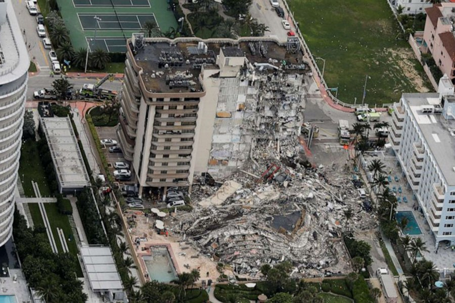 Death toll rises to four from Miami building collapse with 159 still missing