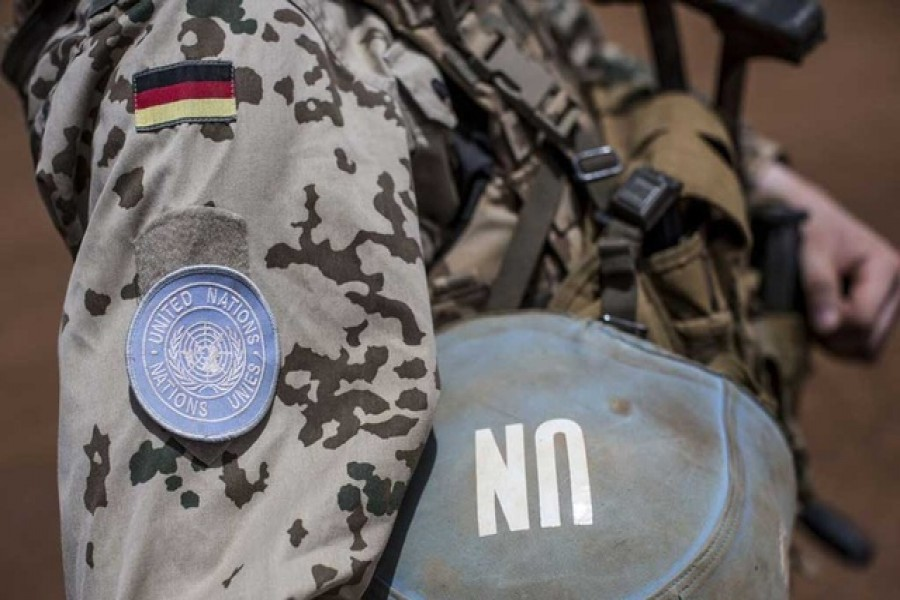 A German soldier from the UN contingent MINUSMA in Gao, Mali, April 5, 2016 —Reuters/Michael Kappeler/Pool