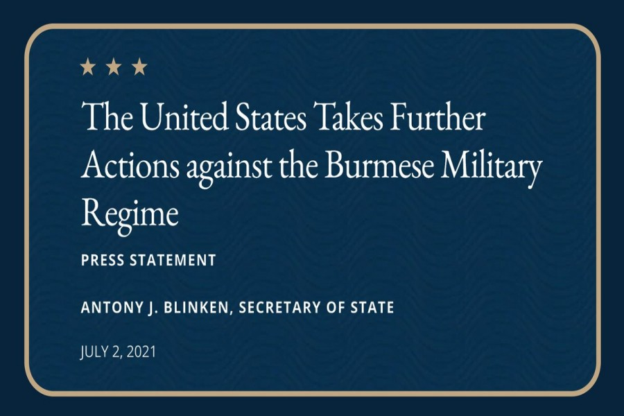 US takes further actions against Burmese military regime