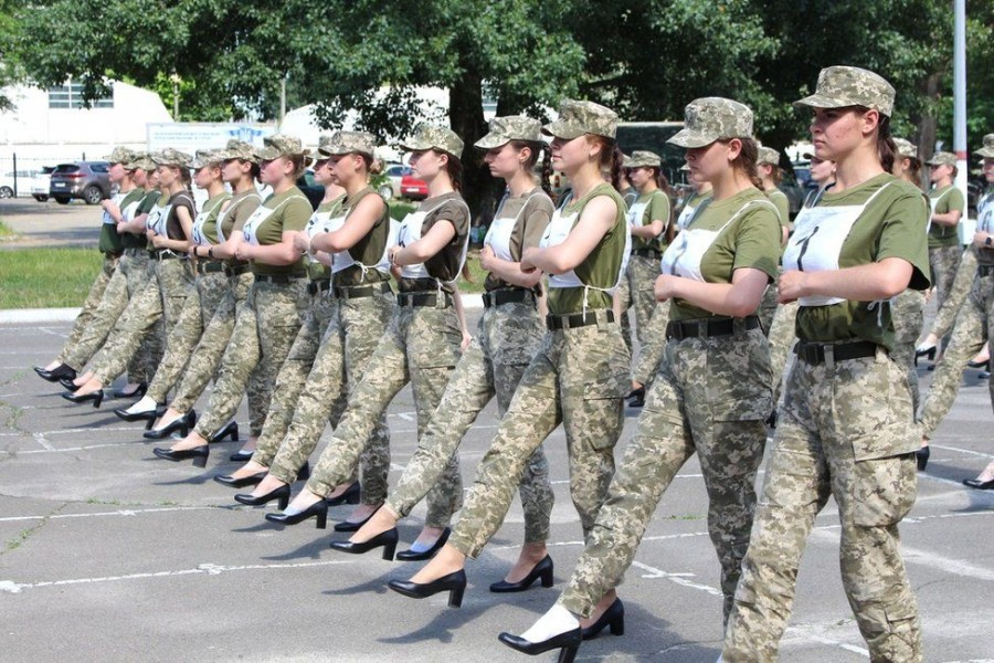 Ukraine plans for women to march in high heels spark outrage