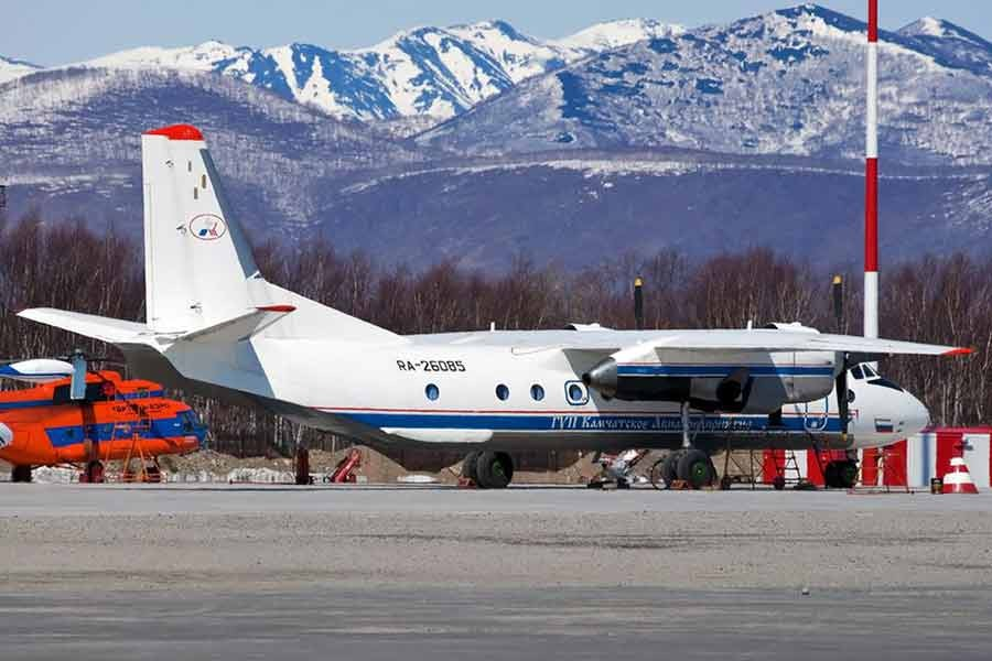 Russian An-26 plane with the tail number RA-26085 is seen in Petropavlovsk-Kamchatsky in Russia -Reuters photo