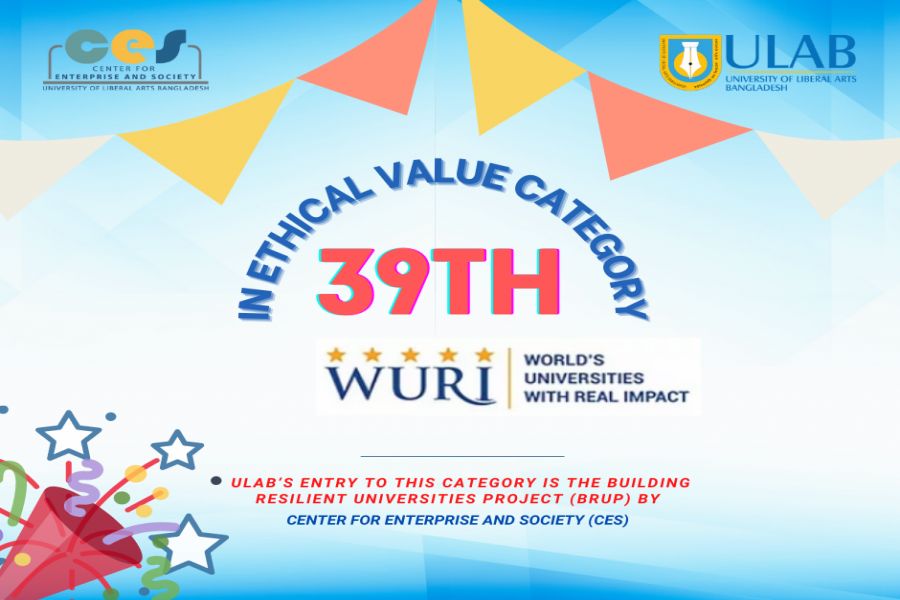 ULAB's CES project ranks 39th in WURI Ranking 2021