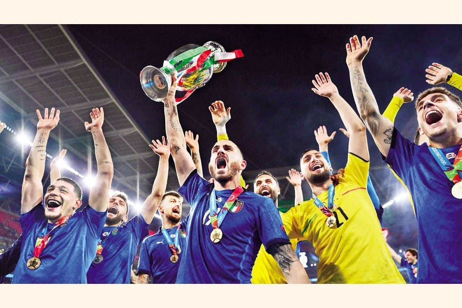 Italy were crowned European champions after shootout win over England on Sunday, July 11, 2021 — Reuters