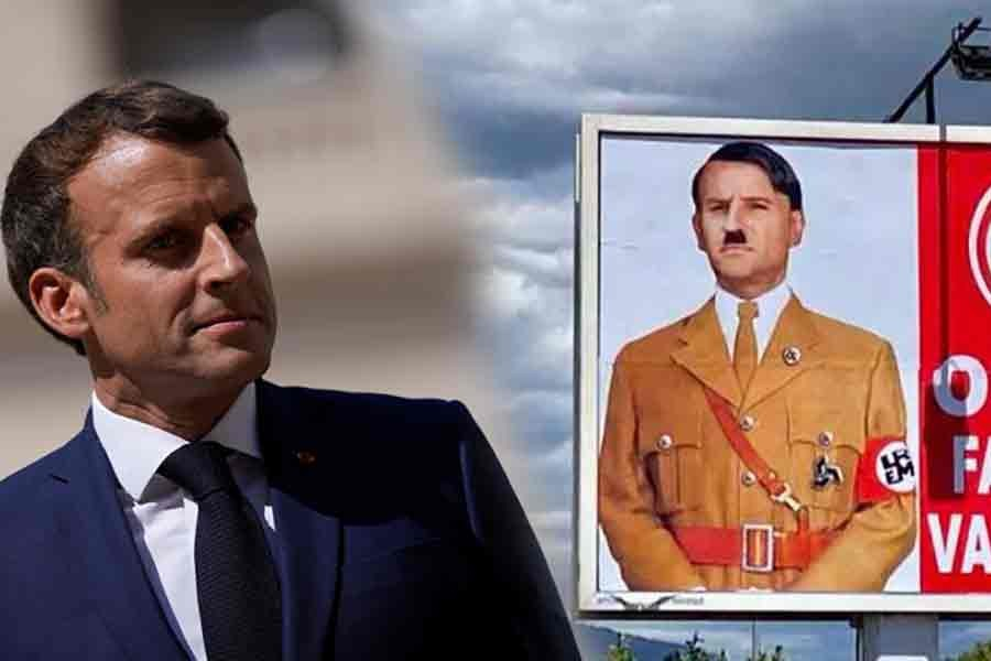 French citizen faces lawsuit for depicting Macron as Hitler