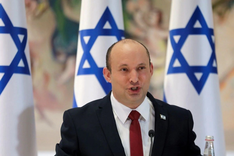 Israeli Prime Minister Naftali Bennett chairs the weekly cabinet meeting in Jerusalem July 19, 2021 — Gil Cohen-Magen/Pool via Reuters/File Photo