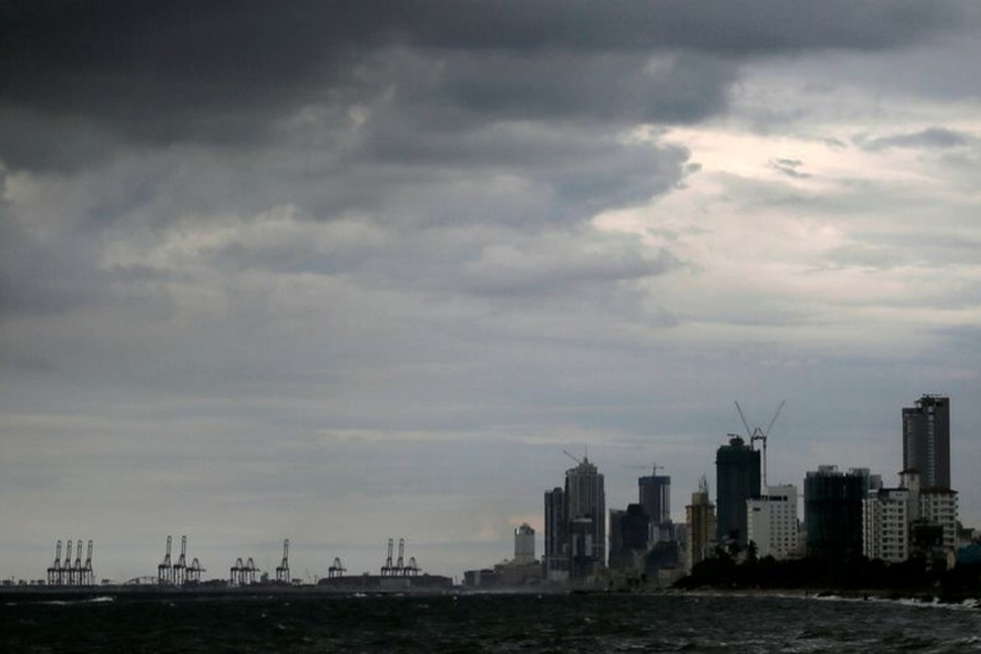 A general view of the main business district as rain clouds gather above in Colombo, Sri Lanka on November 17, 2020 — Reuters/Files