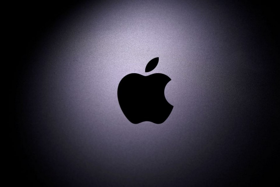 The Apple logo is seen on a Macbook in this illustration photo taken on April 12, 2020 — Reuters/Files