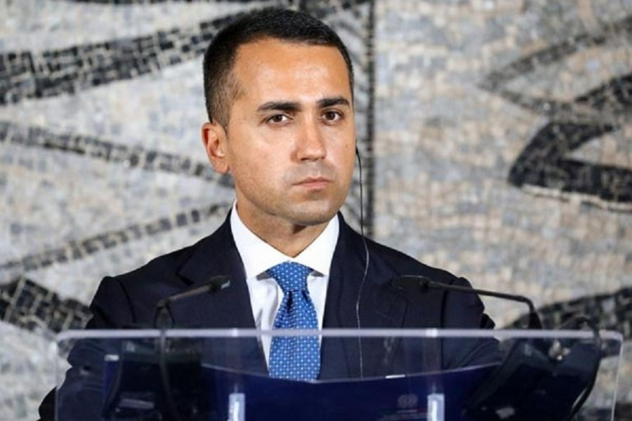 Italian Foreign Minister Luigi Di Maio attends a joint news conference with Russian Foreign Minister Sergei Lavrov following their meeting in Rome, Italy August 27, 2021. Russian Foreign Ministry/Handout via REUTERS