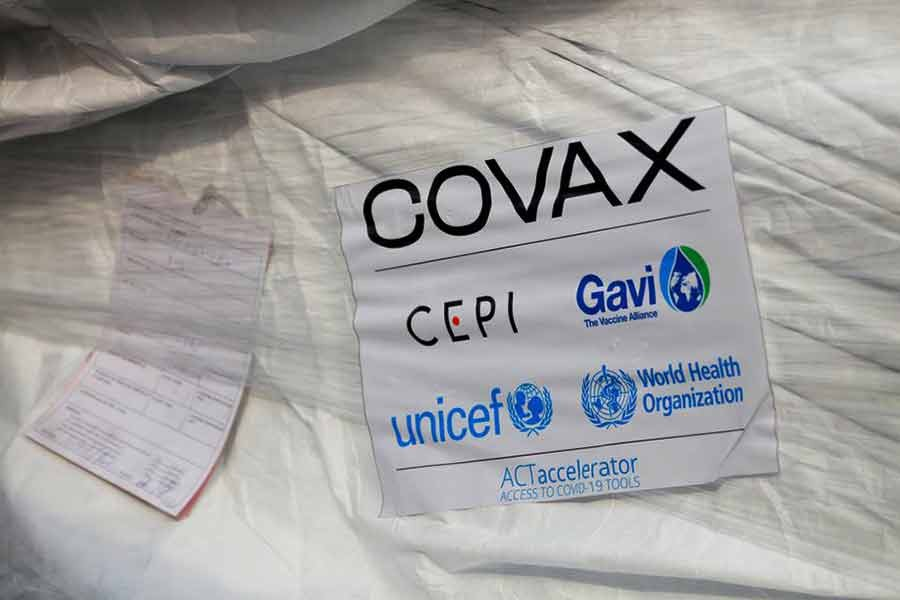 A pack of AstraZeneca/Oxford vaccines is seen as the country receives its first batch of coronavirus disease (COVID-19) vaccines under the COVAX scheme, at the international airport of Accra in Ghana on February 24 this year -Reuters file photo