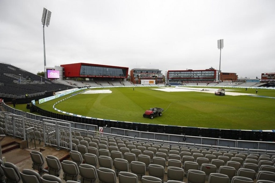 Cricket - Fifth Test - England v India - Emirates Old Trafford, Manchester, Britain - Sept 10, 2021 General view after the match was cancelled due to members of the India staff contracting Covid-19 — Reuters/Jason Cairnduff
