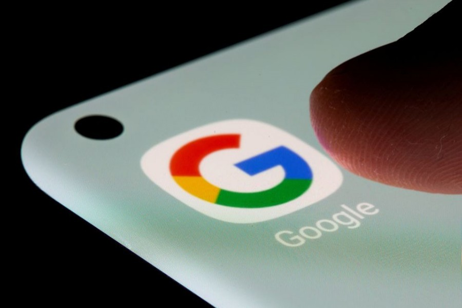 Google app is seen on a smartphone in this illustration taken on July 13, 2021 — Reuters illustration/Files