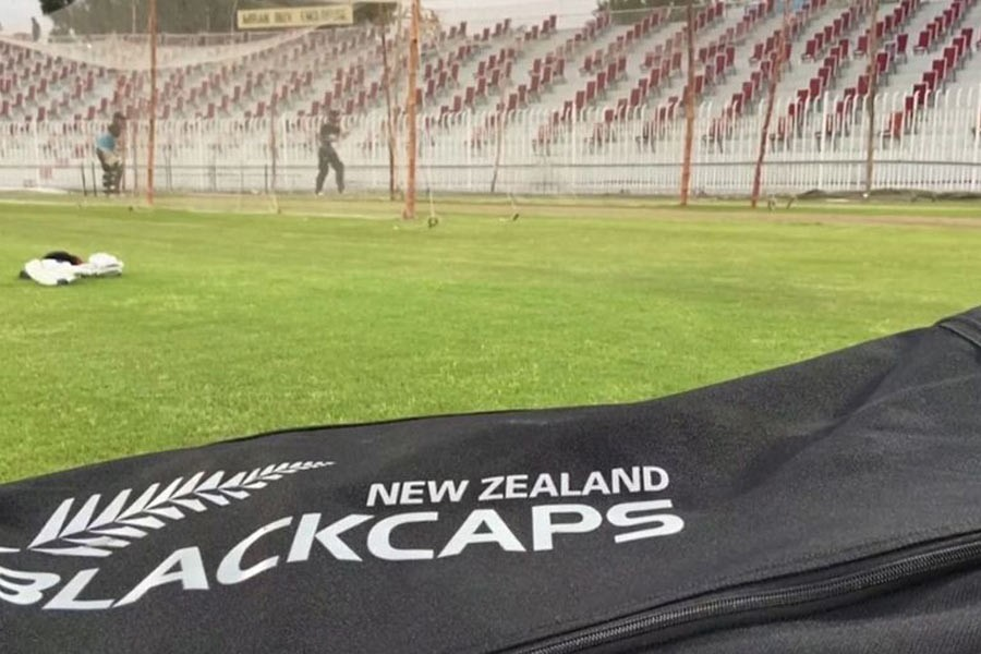 New Zealand cricket team practices in Pakistan in this undated handout image taken from video footage –Reuters photo