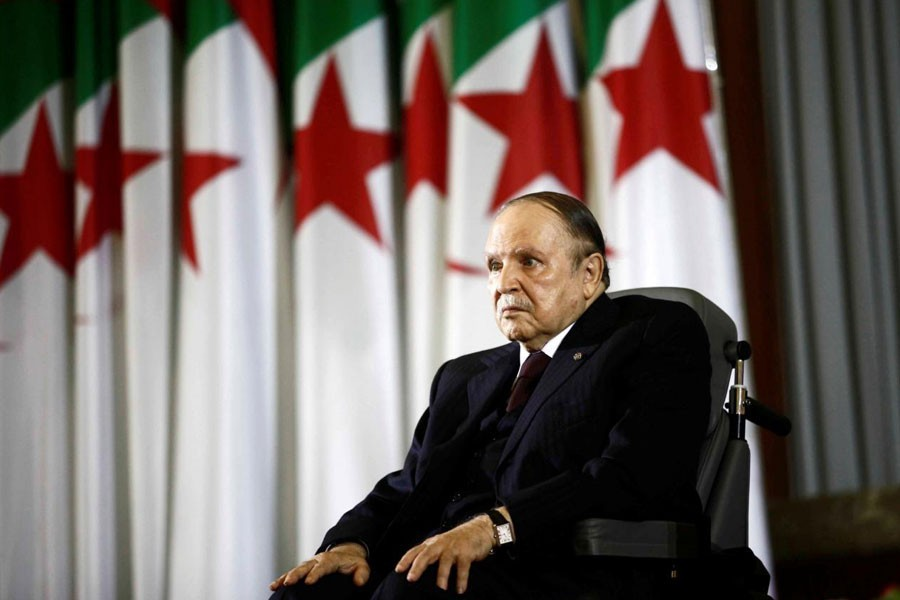 Algeiran President Abdelaziz Bouteflika during a swearing-in ceremony in Algiers April 28, 2014 – Reuters file photo