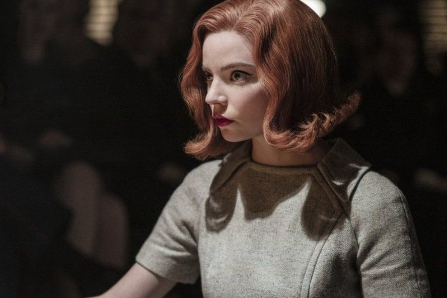 The hit series focuses on the fictional chess player Beth Harmon, played by Anya Taylor-Joy - PHIL BRAY/NETFLIX