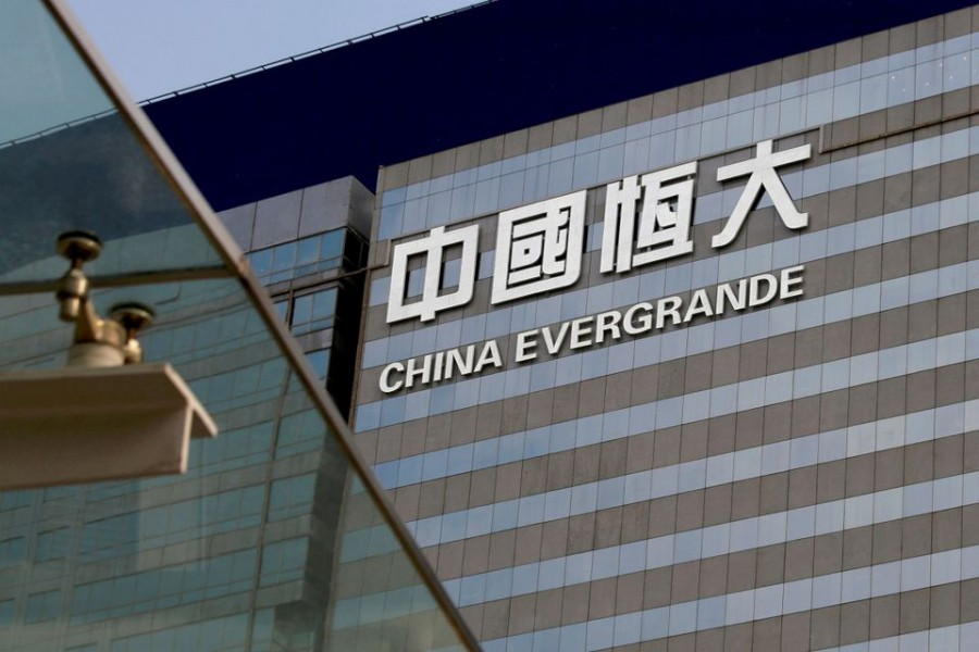 An exterior view of China Evergrande Centre in Hong Kong, China March 26, 2018. REUTERS/Bobby Yip/File Photo