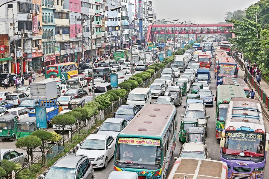 Traffic jam -- an inescapable menace