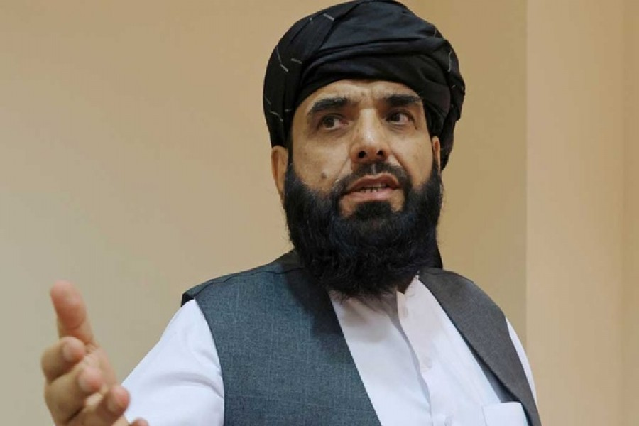 Taliban spokesman Suhail Shaheen leaves after a news conference in Moscow, Russia July 9, 2021. REUTERS