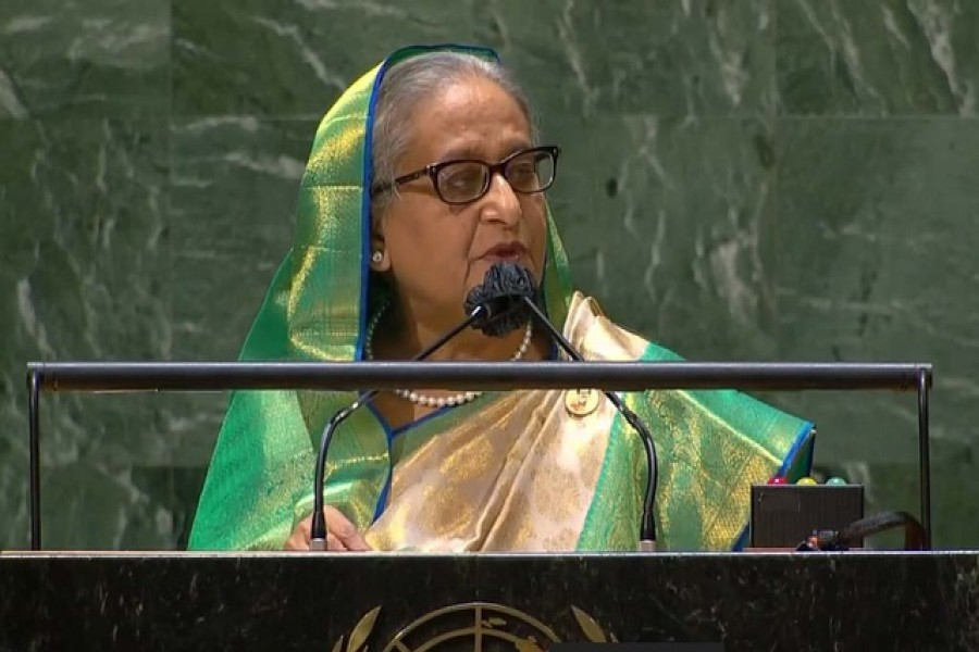 Hasina urges international community to work together to tackle emergencies