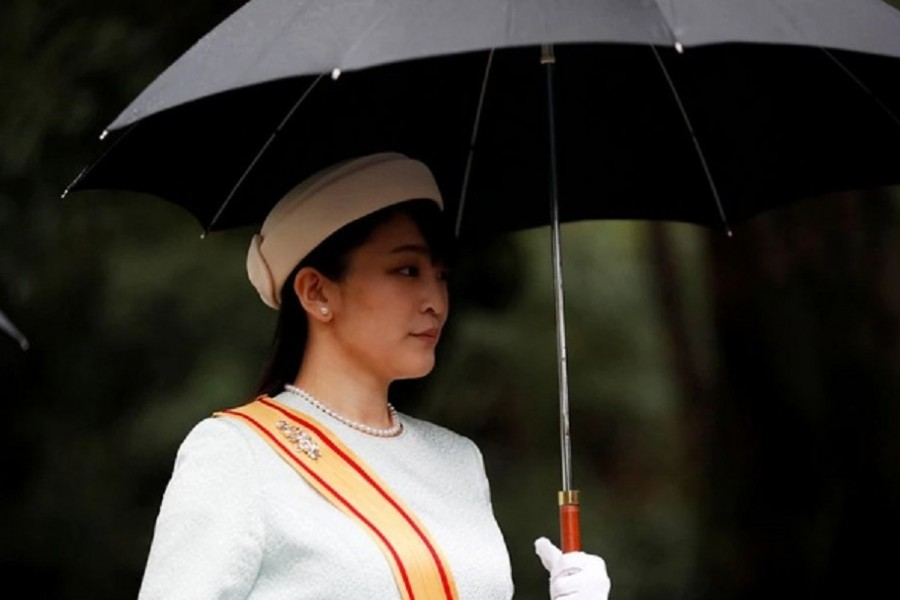 Japan's Princess Mako arrives at the ceremony site where Emperor Naruhito will report the conduct of the enthronement ceremony at the Imperial Sanctuary inside the Imperial Palace in Tokyo, Japan Oct 22, 2019. REUTERS/Kim Hong-ji