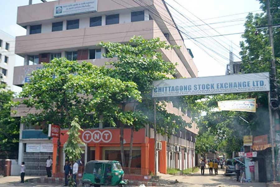 File photo of Chittagong Stock Exchange