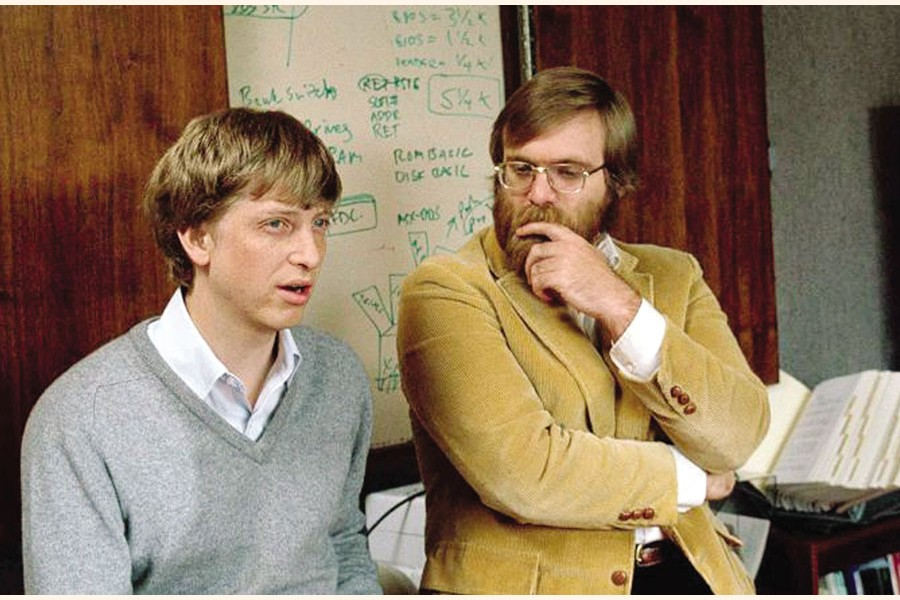 Paul Allen and Bill Gates co-founded Microsoft in 1975. Paul Allen left the company eight years later