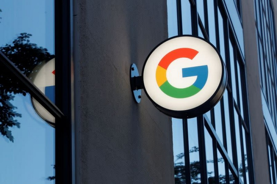 A sign is seen at the entrance to the Google retail store in the Chelsea neighborhood of New York City, US on June 17, 2021 — Reuters/Files
