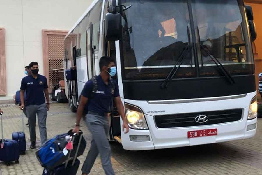 The national cricket team of Bangladesh reaches Oman for the ICC Men's T20 World Cup on Monday.