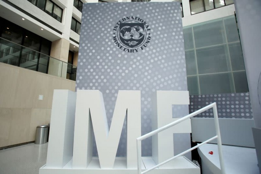 International Monetary Fund logo is seen inside the headquarters at the end of the IMF/World Bank annual meetings in Washington, US on October 9, 2016 — Reuters/Files